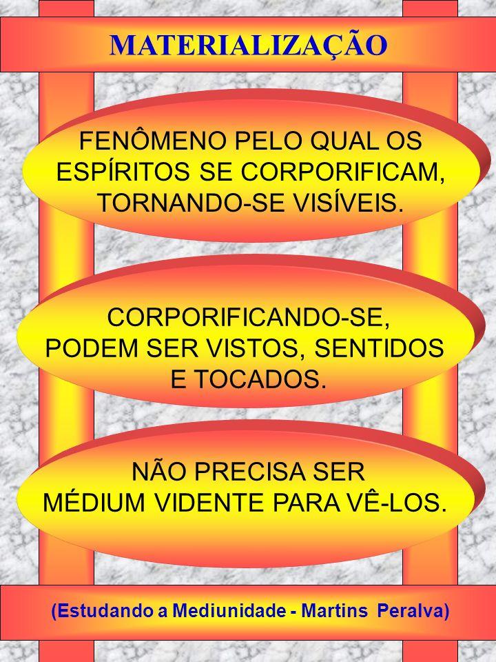 MATERIALIZAÇÃO FENÔMENO PELO QUAL OS ESPÍRITOS SE CORPORIFICAM,