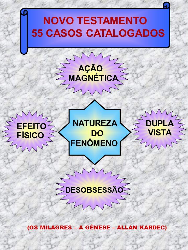 NOVO TESTAMENTO 55 CASOS CATALOGADOS AÇÃO MAGNÉTICA NATUREZA DUPLA