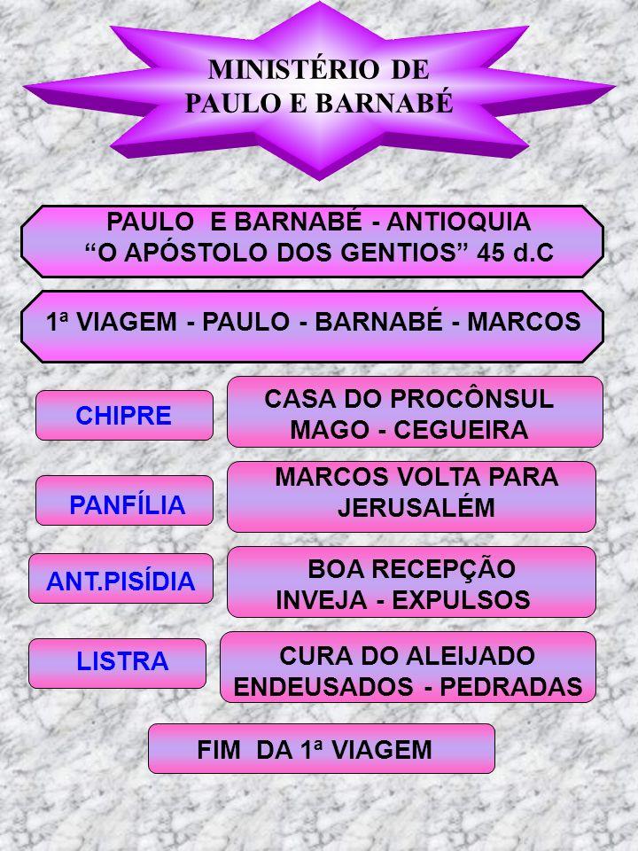 MINISTÉRIO DE PAULO E BARNABÉ