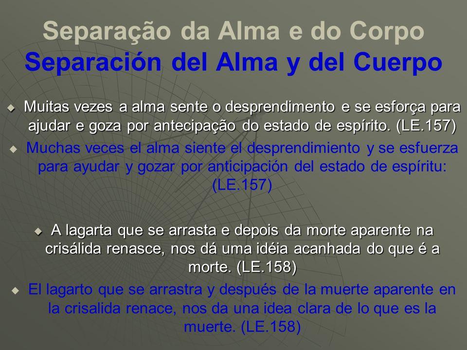 Separação da Alma e do Corpo Separación del Alma y del Cuerpo