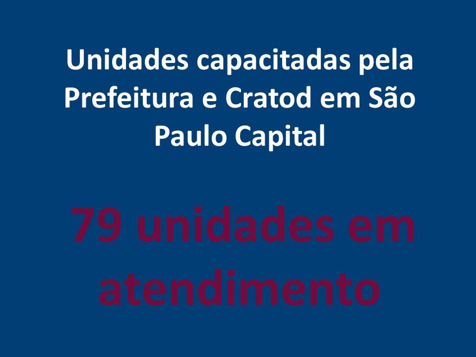Unidades capacitadas pela Prefeitura e Cratod em São Paulo Capital