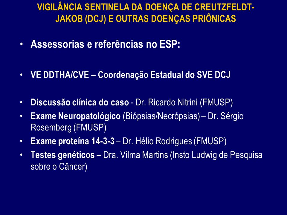 Assessorias e referências no ESP: