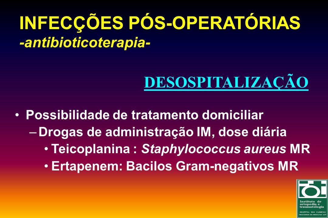 INFECÇÕES PÓS-OPERATÓRIAS -antibioticoterapia-