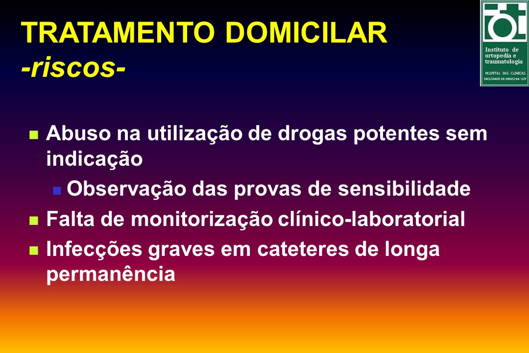 TRATAMENTO DOMICILAR -riscos-