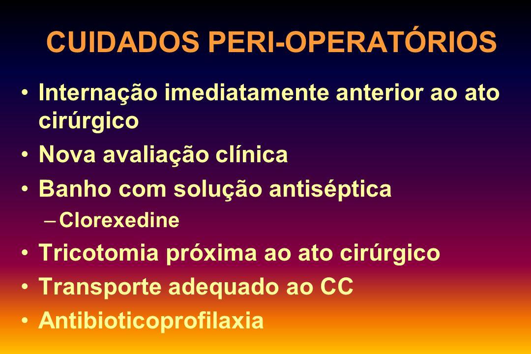 CUIDADOS PERI-OPERATÓRIOS