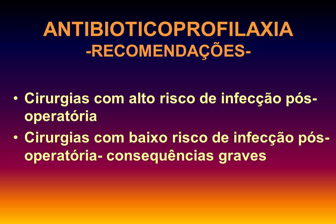 ANTIBIOTICOPROFILAXIA -RECOMENDAÇÕES-