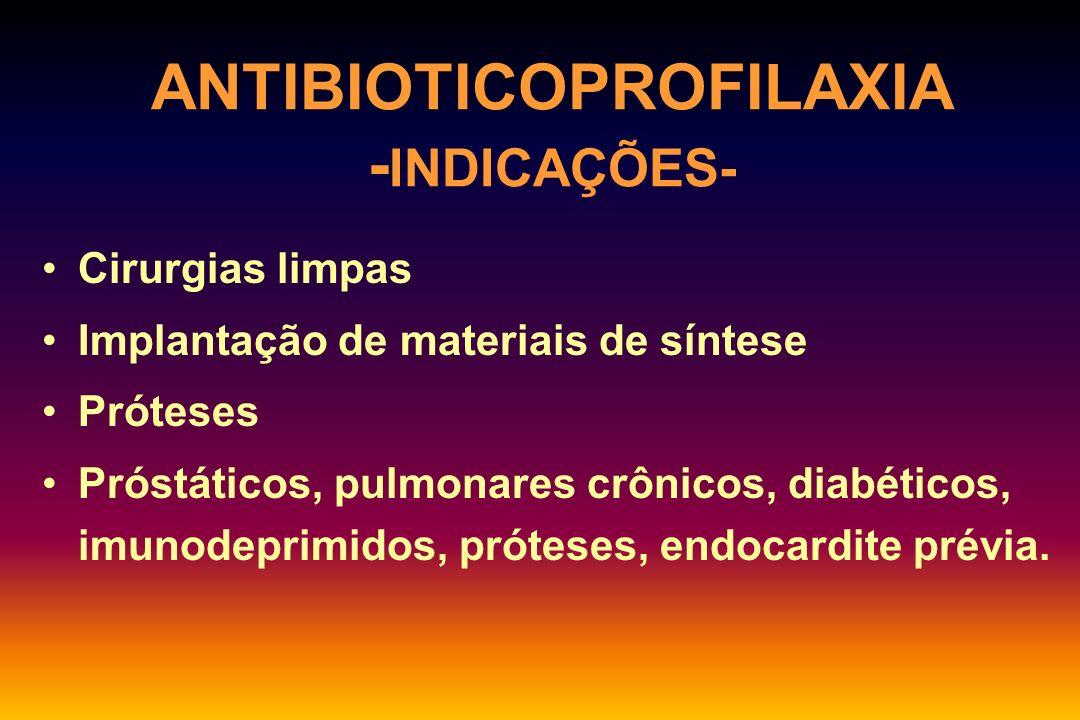 ANTIBIOTICOPROFILAXIA -INDICAÇÕES-