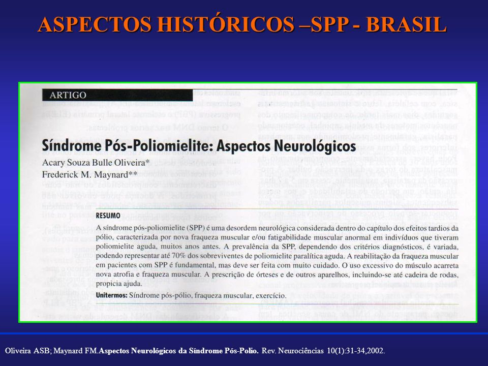 ASPECTOS HISTÓRICOS –SPP - BRASIL