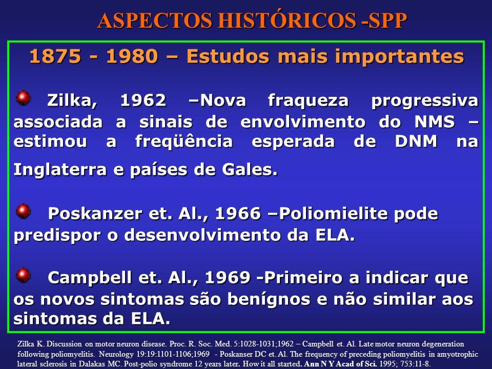 ASPECTOS HISTÓRICOS -SPP 1875 - 1980 – Estudos mais importantes