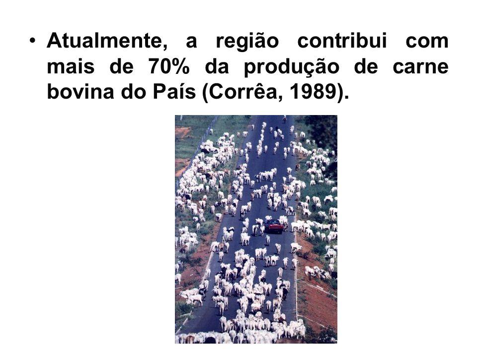 Atualmente, a região contribui com mais de 70% da produção de carne bovina do País (Corrêa, 1989).