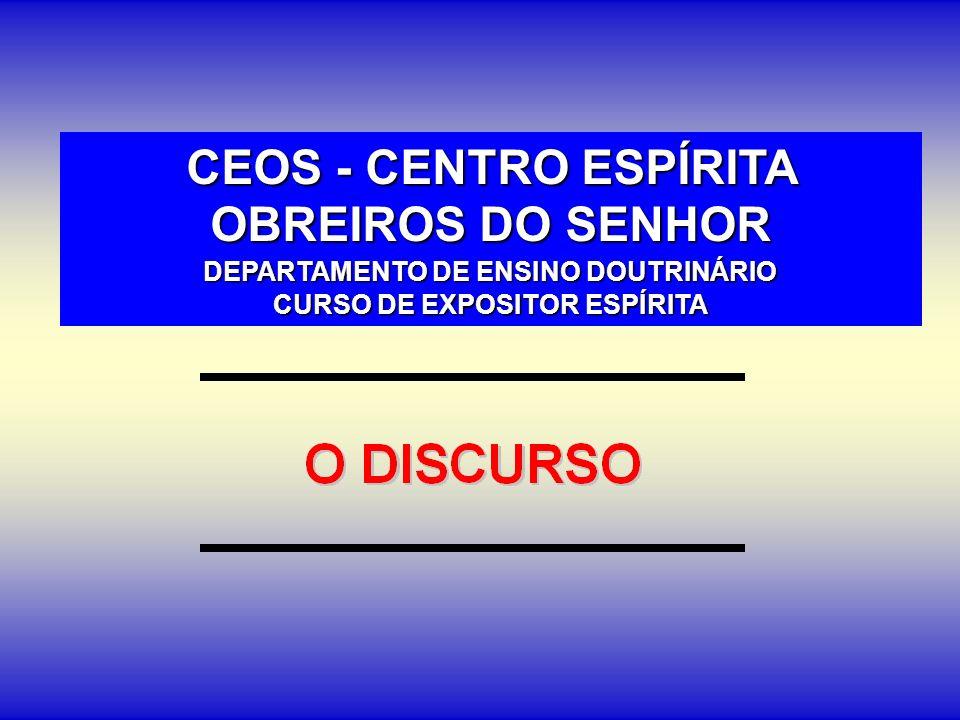 CEOS - CENTRO ESPÍRITA OBREIROS DO SENHOR