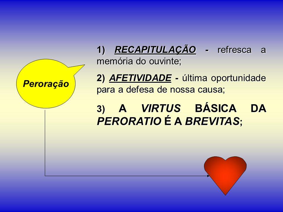 1) RECAPITULAÇÃO - refresca a memória do ouvinte;