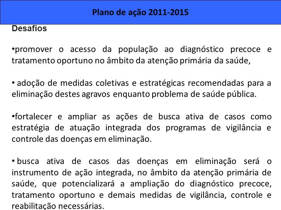 Plano de ação 2011-2015 Desafios.