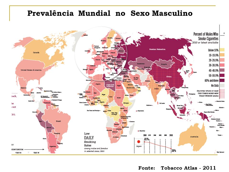 Prevalência Mundial no Sexo Masculino
