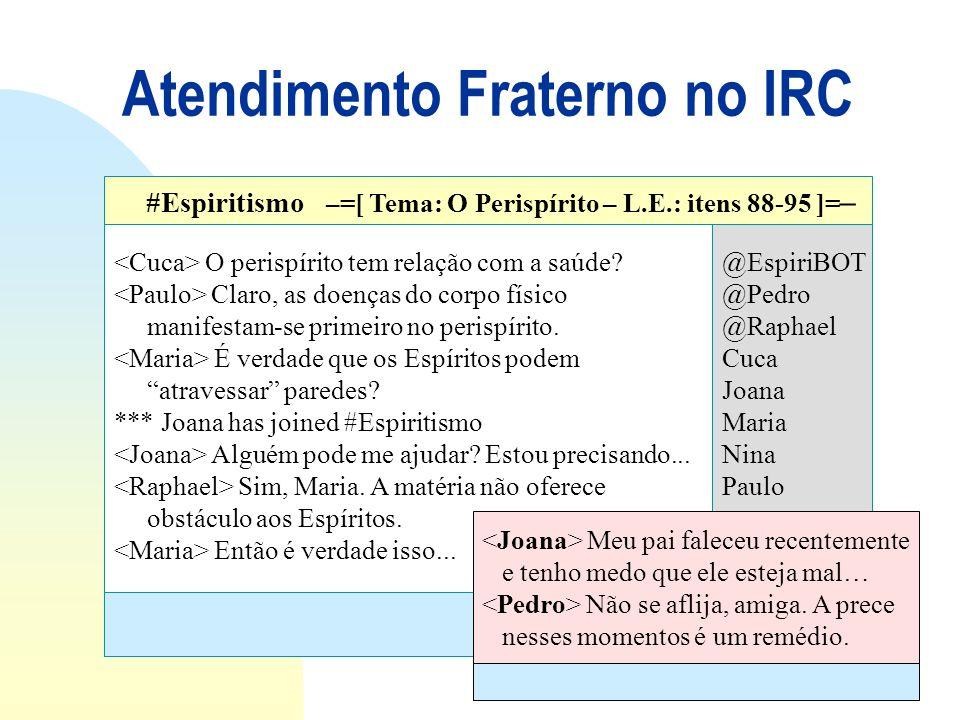 Atendimento Fraterno no IRC