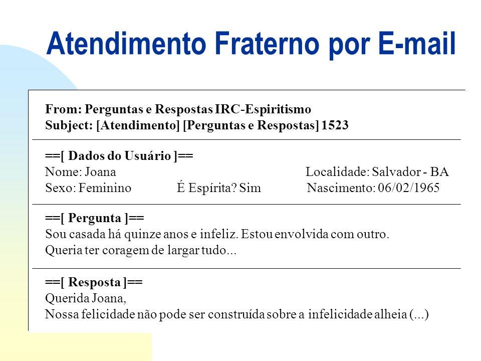 Atendimento Fraterno por E-mail