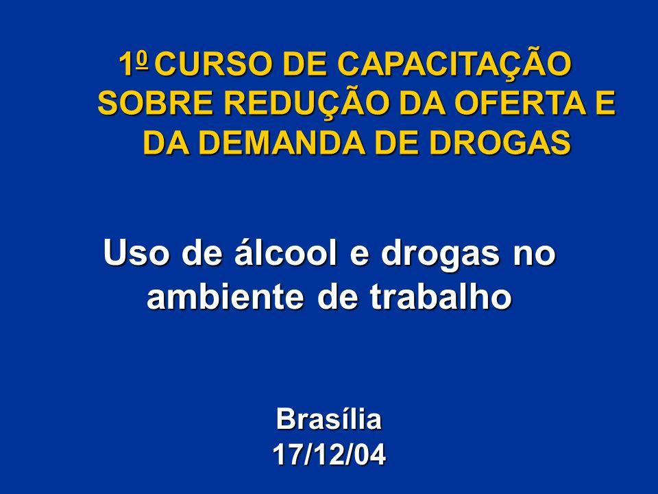 Uso de álcool e drogas no ambiente de trabalho