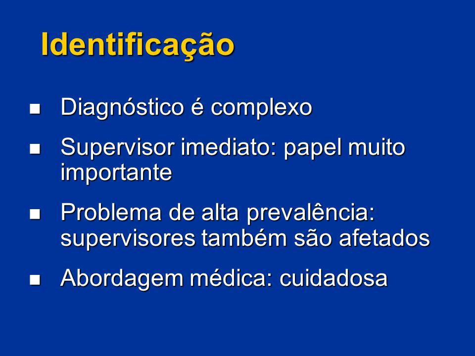 Identificação Diagnóstico é complexo