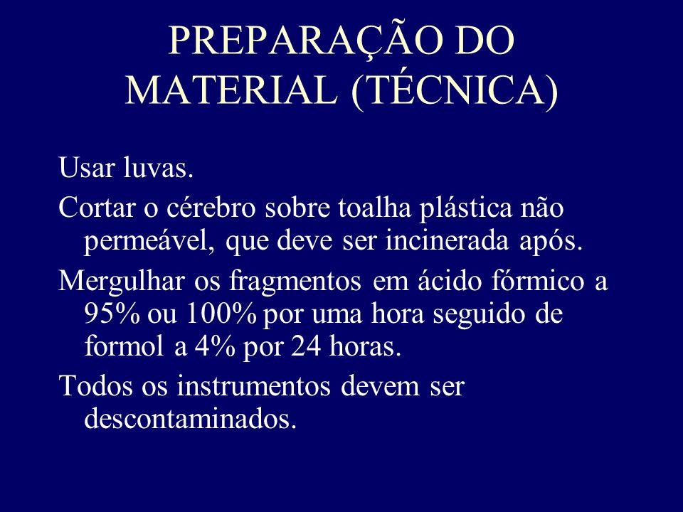 PREPARAÇÃO DO MATERIAL (TÉCNICA)