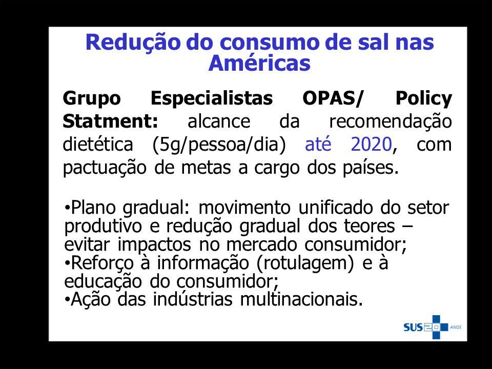Redução do consumo de sal nas Américas