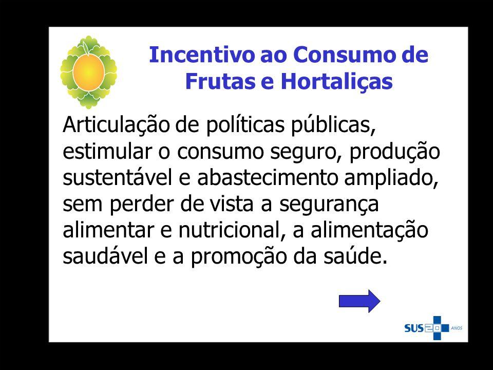 Incentivo ao Consumo de Frutas e Hortaliças