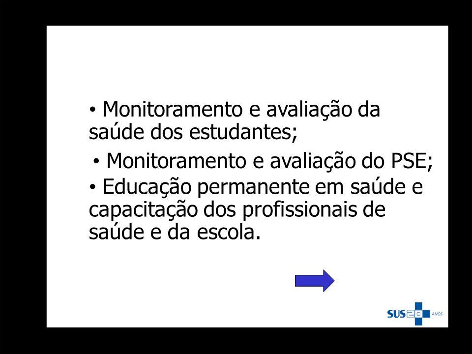Monitoramento e avaliação da saúde dos estudantes;