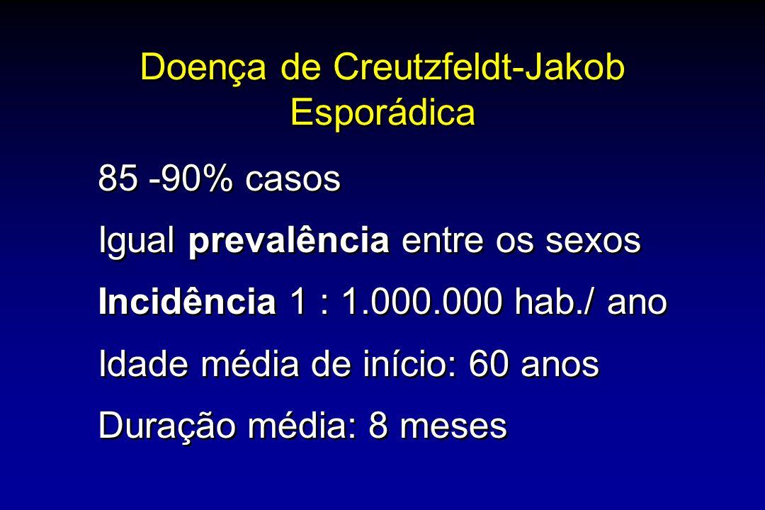 Doença de Creutzfeldt-Jakob Esporádica