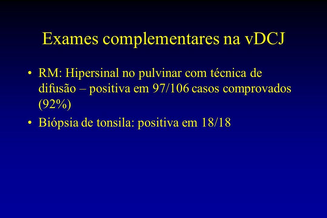 Exames complementares na vDCJ
