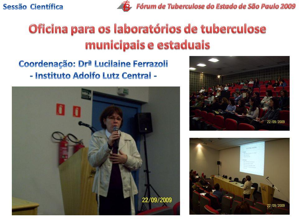 Oficina para os laboratórios de tuberculose municipais e estaduais