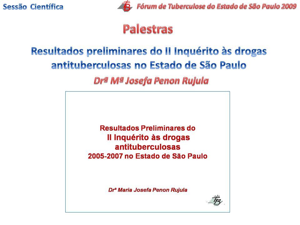 Sessão Científica Fórum de Tuberculose do Estado de São Paulo 2009. Palestras.