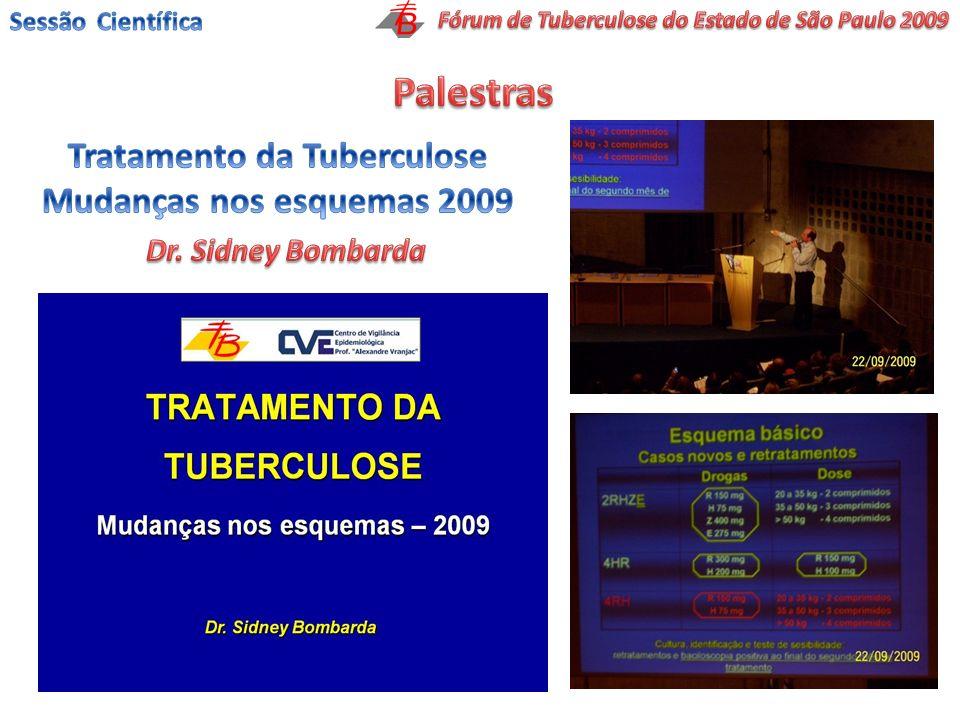 Palestras Tratamento da Tuberculose Mudanças nos esquemas 2009