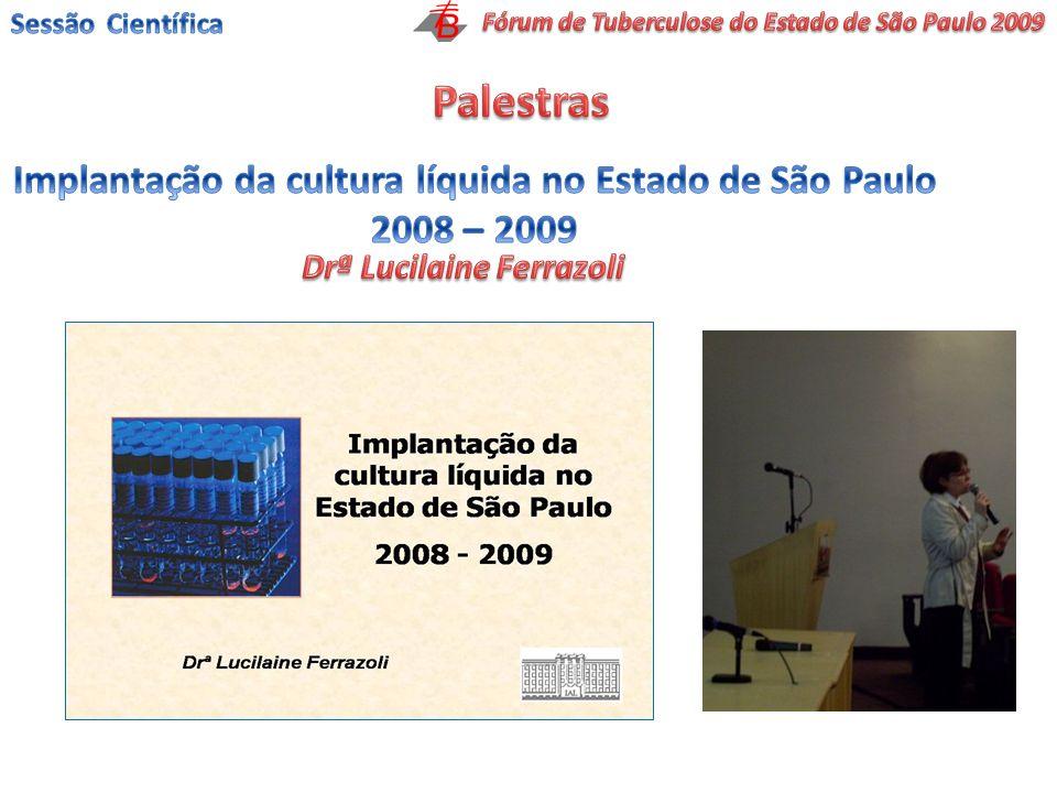 Palestras Implantação da cultura líquida no Estado de São Paulo
