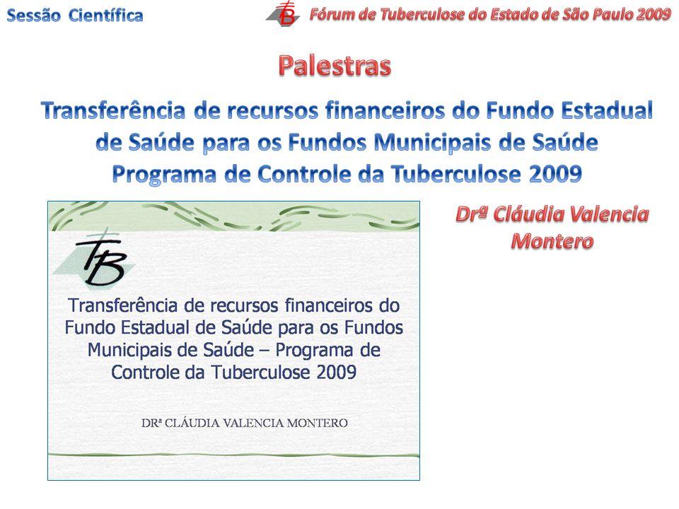 Sessão CientíficaFórum de Tuberculose do Estado de São Paulo 2009. Palestras.