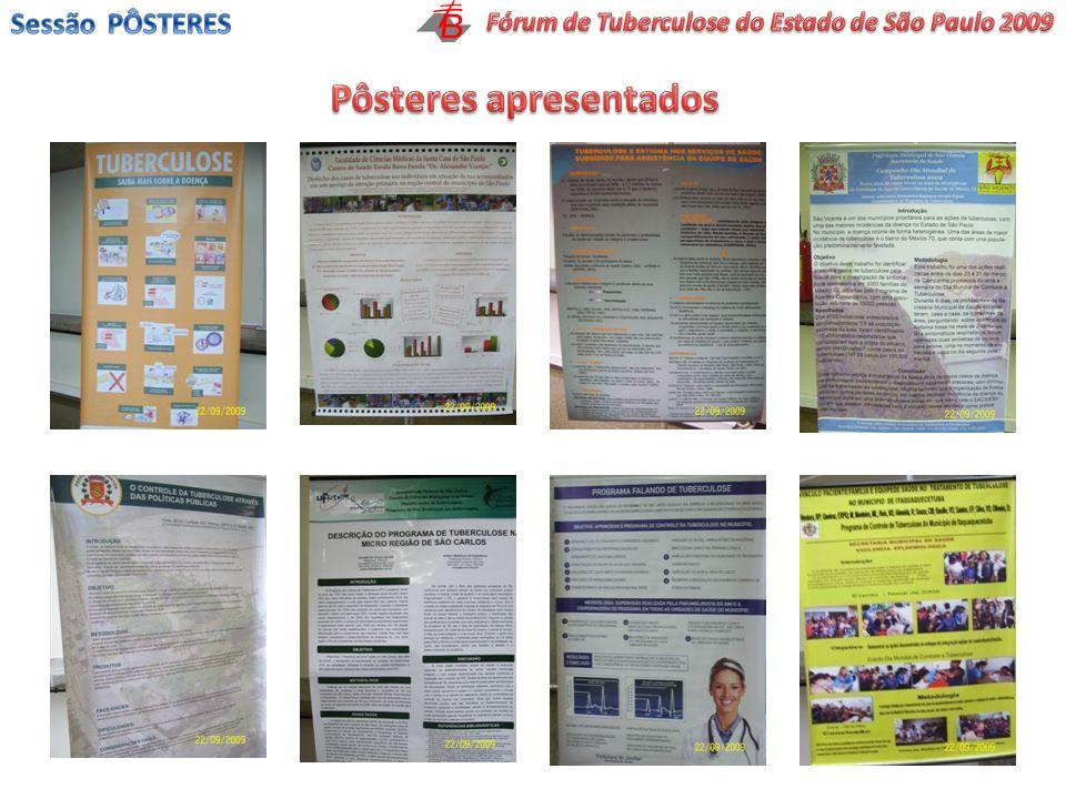 Fórum de Tuberculose do Estado de São Paulo 2009 Pôsteres apresentados