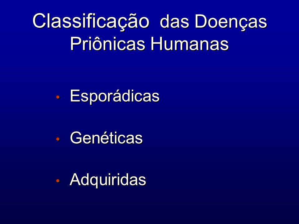 Classificação das Doenças Priônicas Humanas