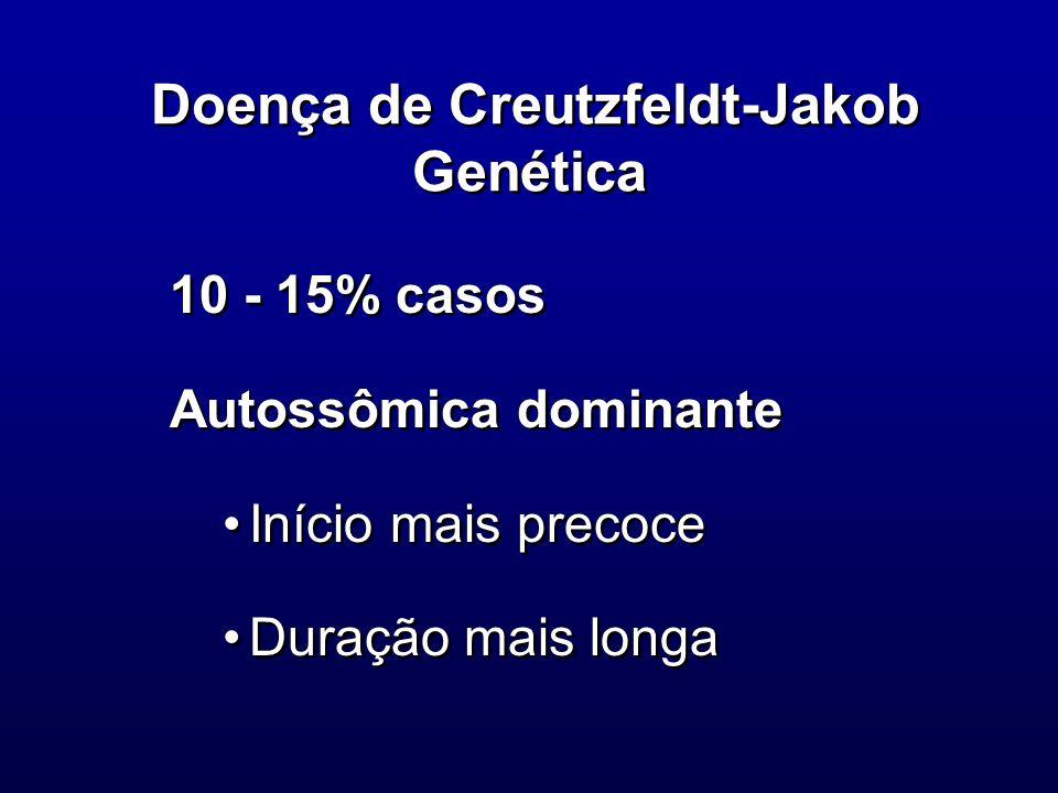 Doença de Creutzfeldt-Jakob Genética