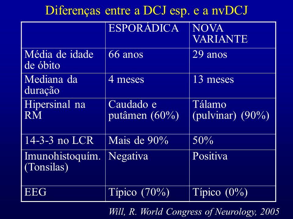 Diferenças entre a DCJ esp. e a nvDCJ