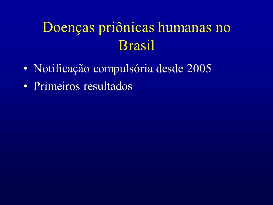 Doenças priônicas humanas no Brasil