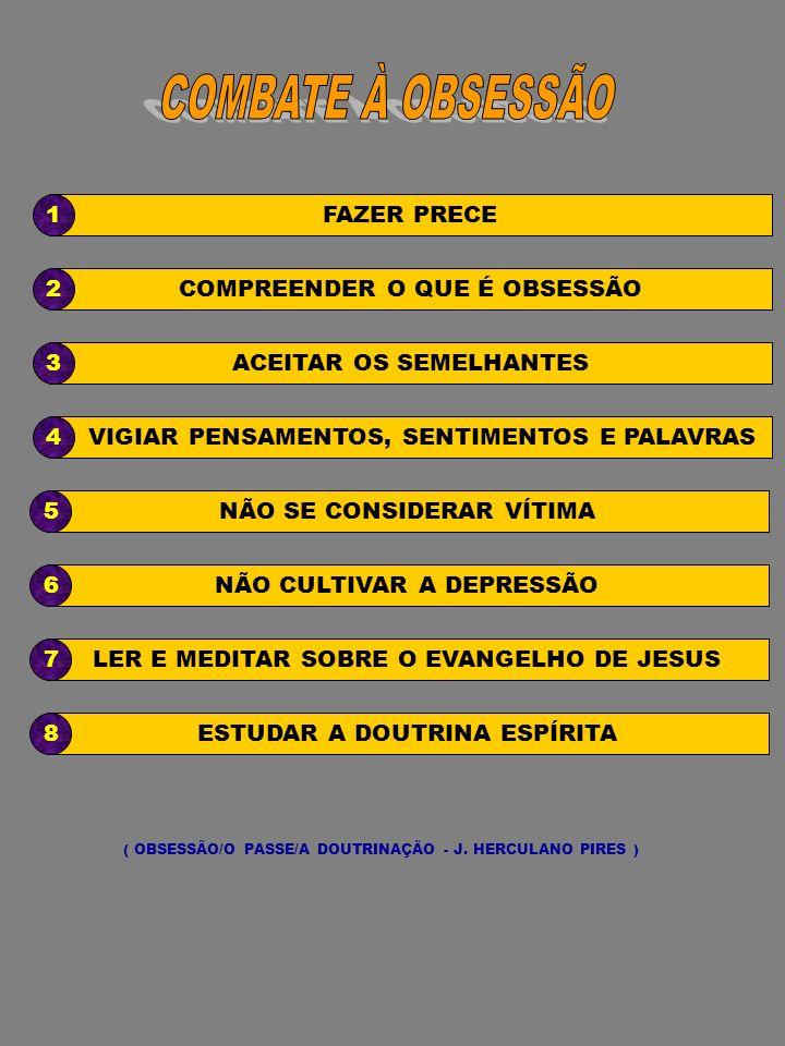 COMBATE À OBSESSÃO 1 FAZER PRECE 2 COMPREENDER O QUE É OBSESSÃO 3