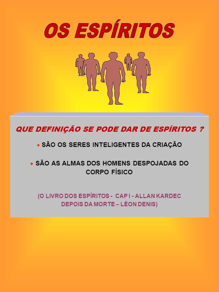 OS ESPÍRITOS QUE DEFINIÇÃO SE PODE DAR DE ESPÍRITOS CORPO FÍSICO