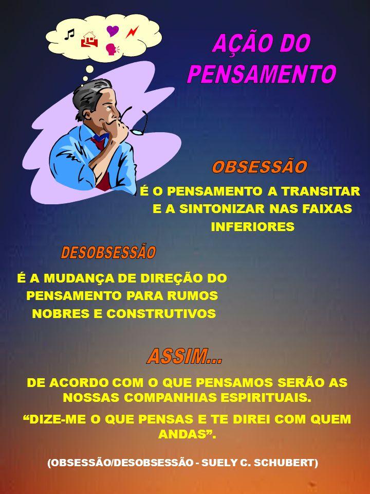 AÇÃO DO PENSAMENTO OBSESSÃO DESOBSESSÃO ASSIM...