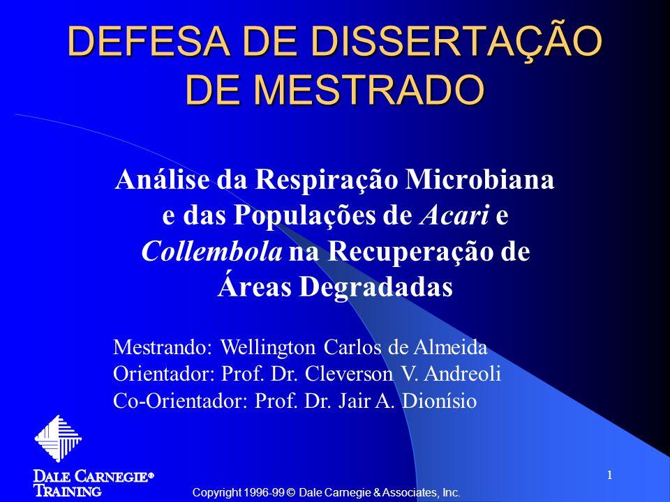 DEFESA DE DISSERTAÇÃO DE MESTRADO
