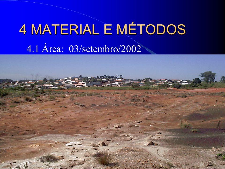 4 MATERIAL E MÉTODOS 4.1 Área: 03/setembro/2002