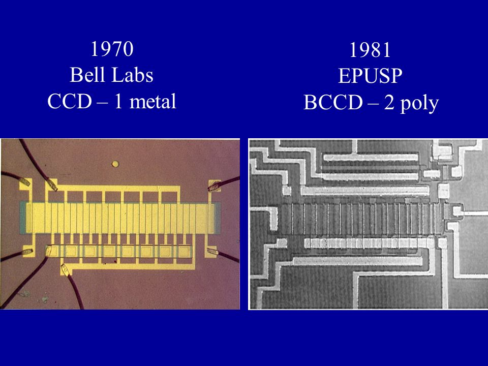 1970 Bell Labs CCD – 1 metal 1981 EPUSP BCCD – 2 poly