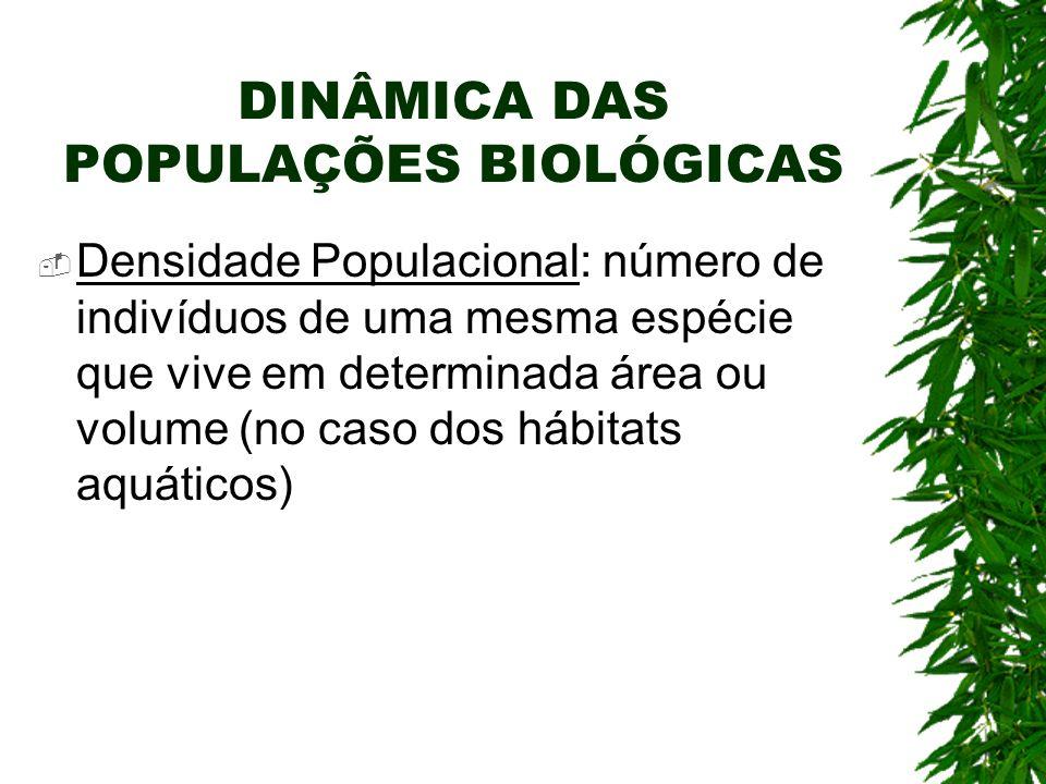 DINÂMICA DAS POPULAÇÕES BIOLÓGICAS