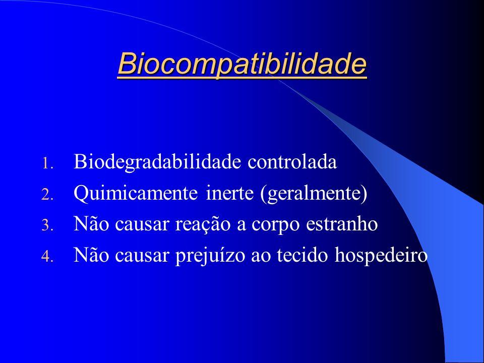 Biocompatibilidade Biodegradabilidade controlada
