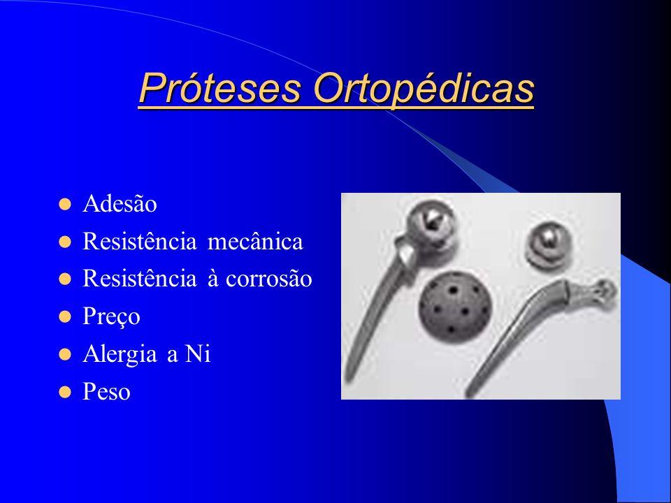 Próteses Ortopédicas Adesão Resistência mecânica