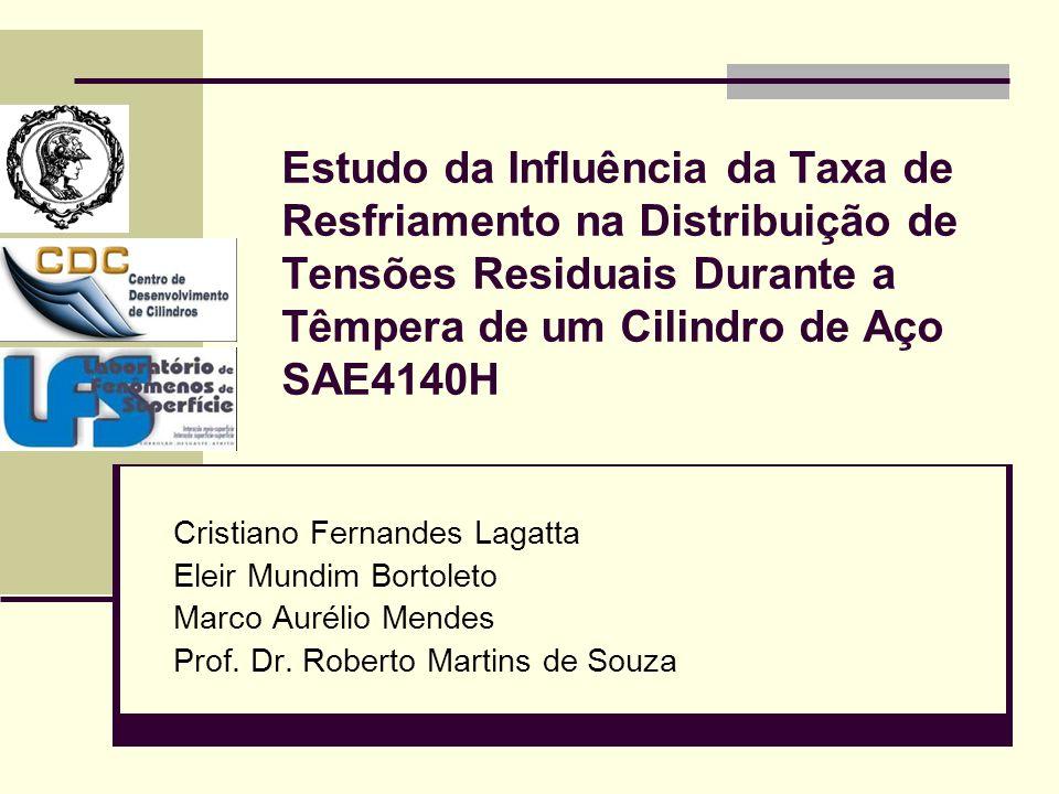 Estudo da Influência da Taxa de Resfriamento na Distribuição de Tensões Residuais Durante a Têmpera de um Cilindro de Aço SAE4140H