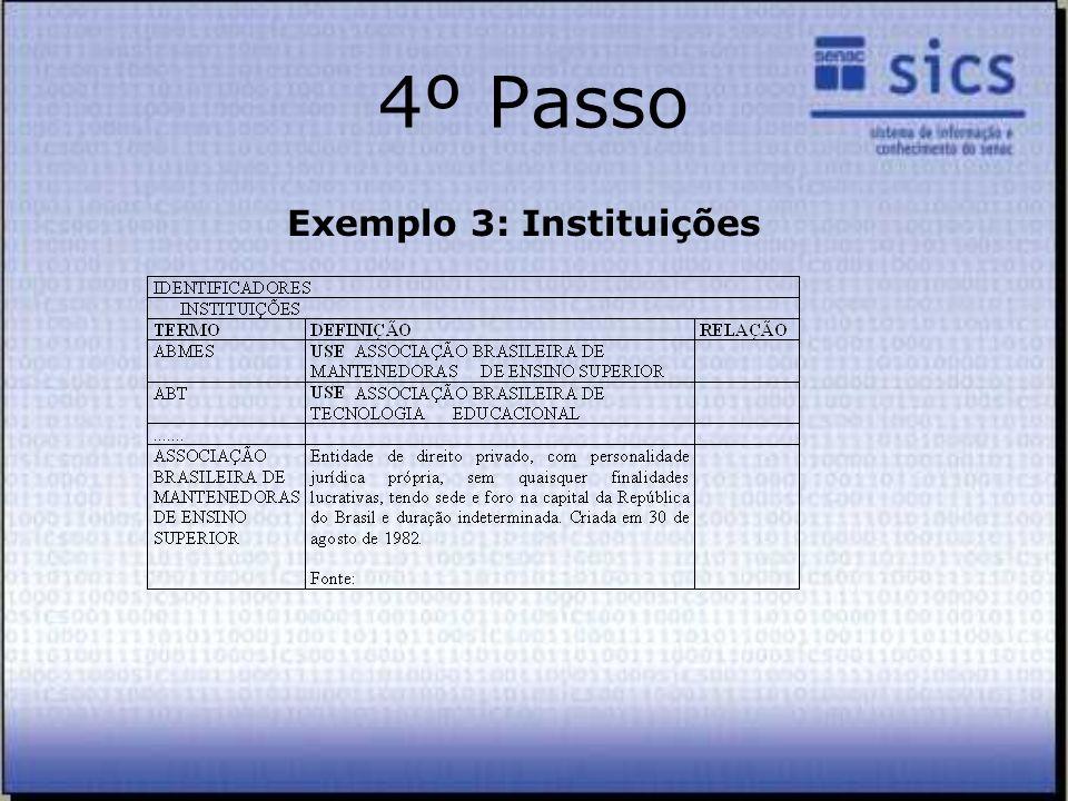 Exemplo 3: Instituições