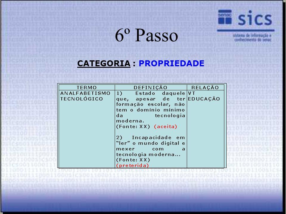 CATEGORIA : PROPRIEDADE